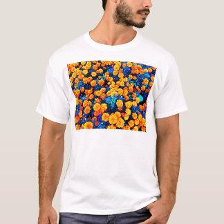 T-shirt Fleurs oranges