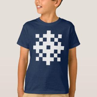 T-shirt Flocon de neige de pixel