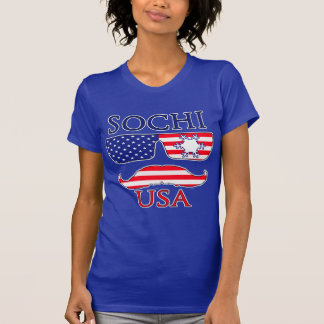 T-shirt Flocon de neige de Sotchi Etats-Unis