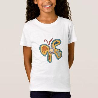 T-Shirt Flutterfly bleu et jaune