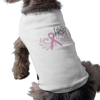 T-shirt Foi, espoir, amour - appui de cancer du sein