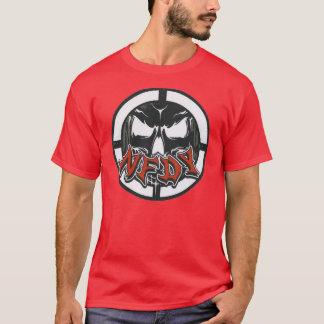 T-shirt foncé de base de NFDY en ROUGE