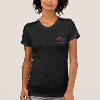T-shirt foncé de dames de logo de theophiles.org