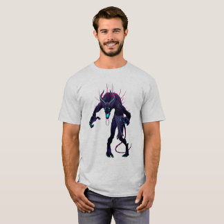 T-shirt foncé de monstre