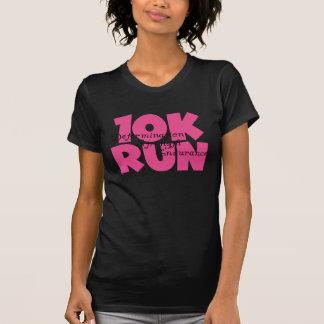 T-shirt fonctionnement rose de sports couru par 10K