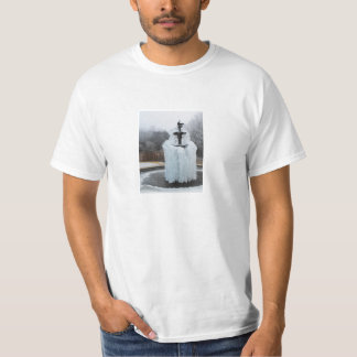 T-shirt Fontaine congelée en hiver