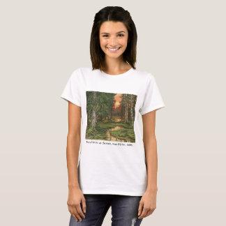 """T-shirt """"Forêt de féerie au coucher du soleil"""" par Ivan"""