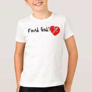 T-shirt Found God ? - Jesus Saves (for jeunes)