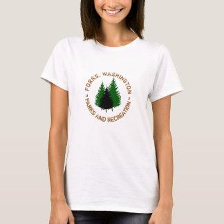 T-shirt Fourchettes, parcs de Washington et chemise de