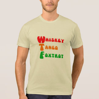 T-shirt Fox-trot de tango de whiskey de l'amusement WTF à