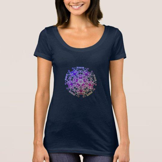 T-Shirt Fractal Psychédélique dégradé