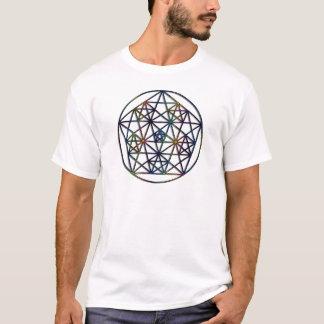 T-shirt Fractale sacrée de la géométrie d'abondance de la