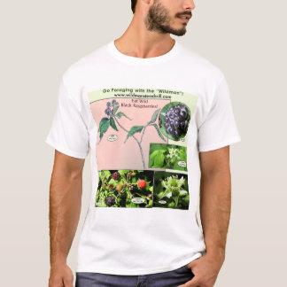 T-shirt Framboises noires sauvages d'usage