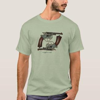 T-shirt français antique frais de revolvers de