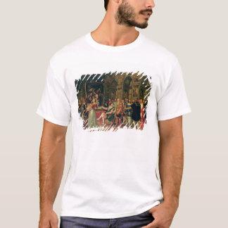 T-shirt Francis I recevant une peinture du saint