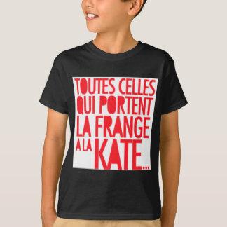 T-shirt Frange de La de Tout Qui Porte une La Kate Moss