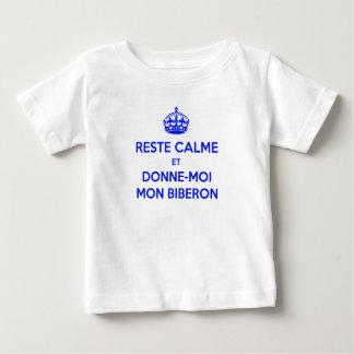 T-shirt Franse Keep Calm Zuigfles