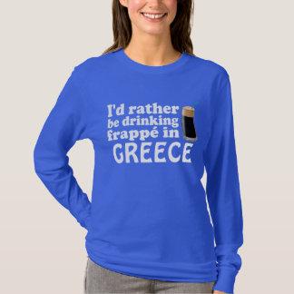 T-shirt Frappé en Grèce