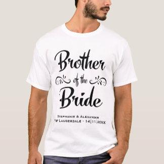 T-shirt Frère du dîner drôle de répétition de jeune mariée