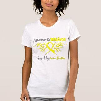 T-shirt Frère jumeau - je porte une petite gorgée jaune de