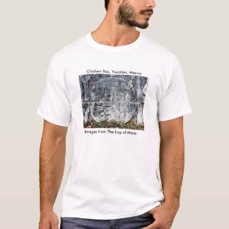 T-shirt Frise, cour de boule, Chichen Itza, Yucatan,