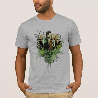 T-shirt FRODO™ avec le collage de vecteur de Hobbits