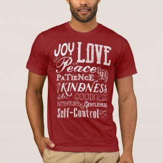 T-shirt Fruit de joie d'amour de Noël de la typographie