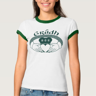 T-shirt Gaélique de Gradh d'amour d'anneau de Claddagh en