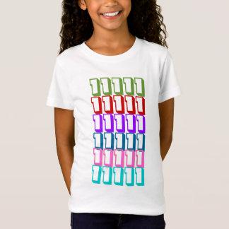 T-Shirt GAGNANT de PILE de #1 LUCKY7 7COLOR NUMBER1