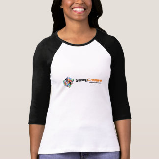 T-shirt gainé créatif de dames de Stirling long