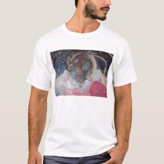 T-shirt garçon de pêche dans la lune