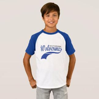 T-shirt Garçons de raglan de base-ball de Wolverines