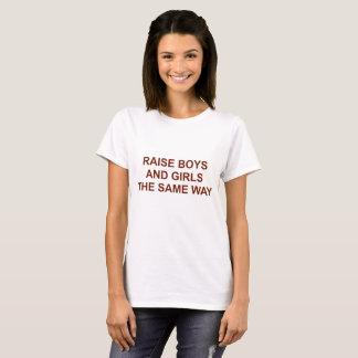 T-shirt Garçons et filles d'augmenter la même manière