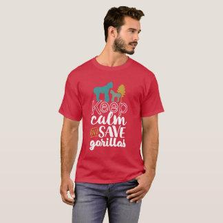 T-shirt Gardez l'activiste d'animal de faune de gorilles