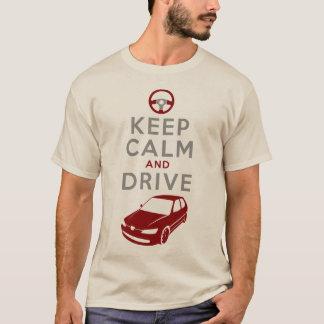 T-shirt Gardez le calme et conduisez -306 - /version3