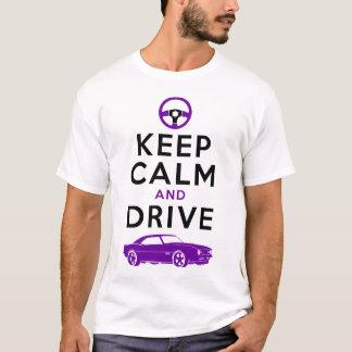 T-shirt Gardez le calme et conduisez - Camaro-