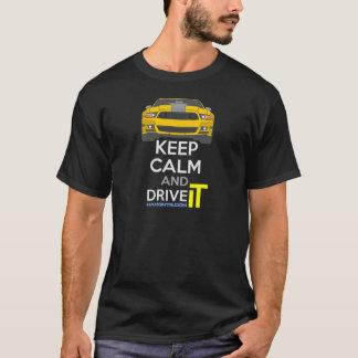 T-shirt Gardez le calme et conduisez-LE - morue.