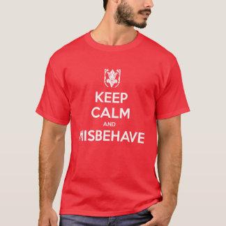 T-shirt Gardez le calme et conduisez-vous mal