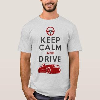 T-shirt Gardez le calme et conduisez - W124-