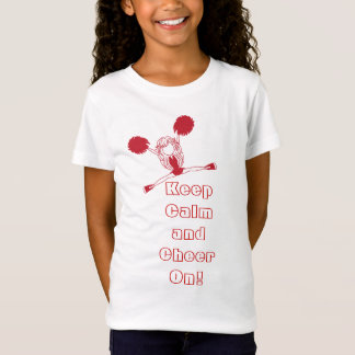 T-Shirt Gardez le calme et encouragez dessus - rouge foncé
