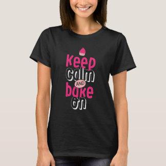 T-shirt Gardez le calme et faites cuire au four sur le