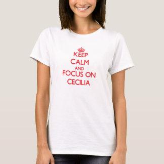 T-shirt Gardez le calme et le foyer sur Cecilia