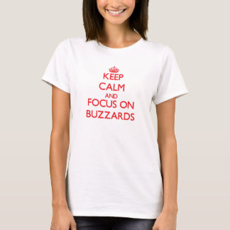 T-shirt Gardez le calme et le foyer sur des buses