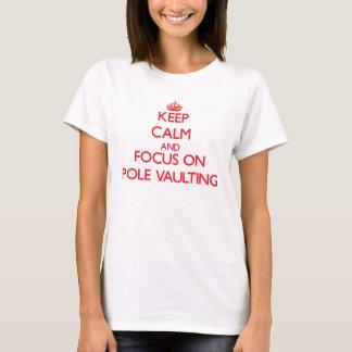 T-shirt Gardez le calme et le foyer sur le saut à la