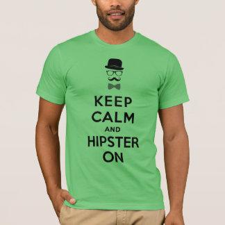 T-shirt Gardez le calme et le hippie dessus