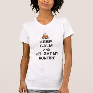 T-shirt GARDEZ LE CALME et RALLUMEZ MON FEU Guy Fawkes