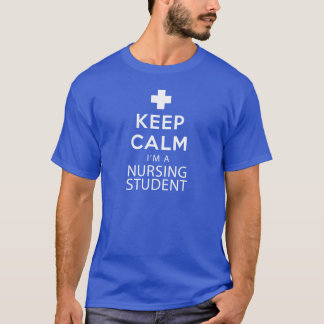 T-shirt Gardez le calme que je suis un étudiant de soins
