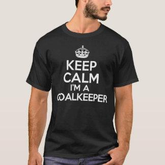 T-shirt Gardez le calme que je suis un gardien de but