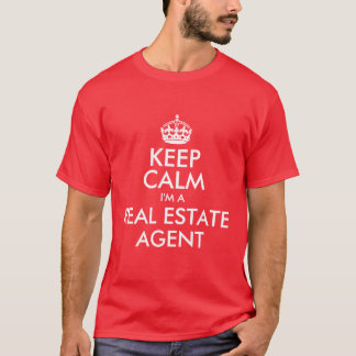 T-shirt Gardez le calme que je suis un vrai agent