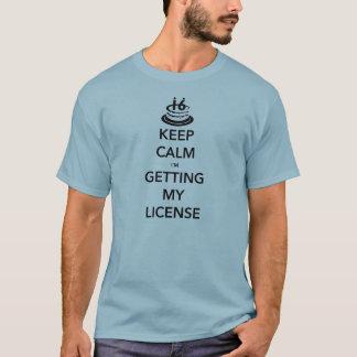 T-shirt Gardez le calme que j'obtiens mon 16ème